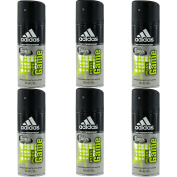 6 x Adidas Cool & Dry 48H Mens Anti-Perspirant Spray 150ml - Pure Game