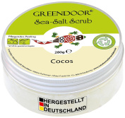 Greendoor Sea Salt Scrub Cocos, Seasalt Body Peeling without Plastic, 280g, from the natural cosmetics Factory