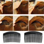 HAIR COMBS SLIDES SCHOOL BLACK CLIPS SLIDES