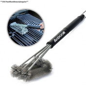 """Aodoor Bbq Grill Brush 3 In 1, 18"""" Long Stainless Steel Woven Wire Cleaning..."""