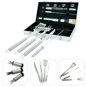 18 Utensils Case For Barbecue – Stainless Steel Utensils For Grill With Case