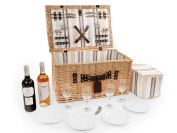 Luxury Willow Picnic Hamper For Four People, Wicker Picnic Hamper, Picnic H