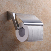 Homelody Chrome Plated Toilet Roll Paper Holder With Cover Wall Mounted