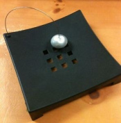 Black Napkin Holder Ball Metal Serviette Home Kitchen Office Tissue Modern Rack