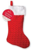 Deluxe Christmas Stocking 50cm Red Santa Bag Sack Presents Xmas Toy Tree