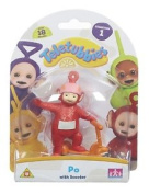 Teletubbies 8.5 Cm Collectable Po Figure With Scooter Teletubby Toys