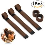 Bestidy Fashion Hair Bun Maker Styling Disc Hair Donut Former Foam French Twist Magic DIY Tool for Girls Ladies