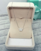 XX Silver Necklace Female Sweet Necklace Short Clavicle Chain Female , Silver,Silver