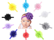 Baby Headbands, Chickwin 10pcs Cute Flower Headbands Hairband for Baby Girls Hair Accessories