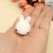 1 Pcs Adorable Mini Squishy Rabbit Animal Toy Reduce Pressure Squeeze Soft Press Toy by TOYZHIJIA