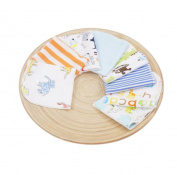 CuteOn Pack of 8 Soft Cotton Baby Face Washcloth Hand Towels Washing Bath Shower Wipe Nursing Towel Boy 21cm x 21cm