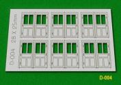 D-004 Proses Oo - 6 Pcs 28x25mm Double Unit Doors