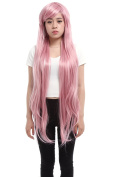 Lemail wig 100cm Supper Long Hot Pink Megurine Luka Straight Cosplay Wig Ml16 -A