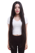 Lemail wig 100cm long black straight cosplay hair wig ML155