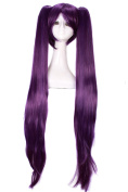 Lemail wig 120cm Long Purple Clips on Ponytail Cosplay Party Full Wig