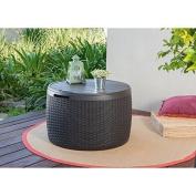 Keter Circa Storage Box Rattan 140.1l/140l Garden/decking Side/patio Table