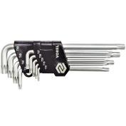#bnew Vorel Torx Security Wrenches 9 Pcs Hand Tool Quality Chrome-vanadiu