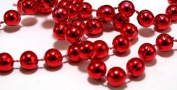 18m Long Red Metallic Bead Garland Christmas Decoration Premier Brand