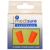 Mediusre Healthcare Travel Sleeping Soft Foam Noise Reducing Ear Plugs Orange, 1 Box