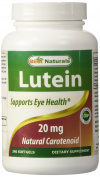 Best Naturals Lutein, 20 mg with Zeaxanthin, 240 Softgels by Best Naturals