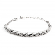 Lulu Frost Women's Antique Silver Plated Satellite Thin Choker of Length 26.3-40.9cm