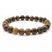 Tiger Eye Stone Bracelet Meditation Mala Reiki Energy Healing Bangle Elastic Stretch Bracele