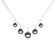 QUADIVA C! Necklace for Woman with Pearls Pearl Necklace (colour