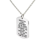 Stainless Steel Pendant Necklace Daughter Always Remember You are Braver Stronger Smarter than you think