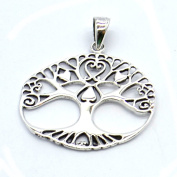 Heart Tree of Life Sterling Silver Pendant