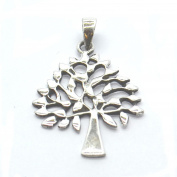 Tree Shaped Sterling Silver Pendant