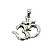 Om / Aum Shaped Symbol Sterling Silver Pendant