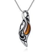 Eyes of the Sun Healing Chakra Beads Tiger Eye Stones Pendant Necklace 55cm