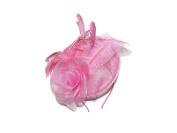 BEAUTIFUL LARGE PINK ROSE STYLE HAIR FASCINATOR HATINATOR - WEDDINGS RACES LADIES DAY