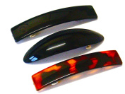 La Peach Fashions Ladies Regular Rectangular And Oval Shaped Barrette Hair Clip Slide Size 9 cm And 10 cm Set Of Three