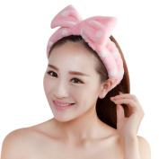 Nighteyes66 Women Girls Big Bow Soft Headband Make Up Bath Shower Spa Hair Band Headwear