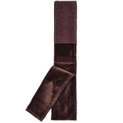 Adjustable Velvet Wig Grip Extra Hold Head Hair Band Scarf Headband with Hook And Loop Tape Brown