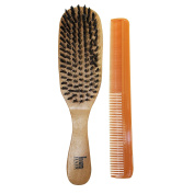 Wave Hair Brush HARD Boar Bristle with Styling Comb
