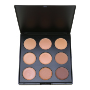 Frola - Pro 9 Colour Concealers Palette Sleek Cosmetics Cream Complete Coverage Makeup Kit Professional Face Contouring and Highlighter Base Foundation Palette
