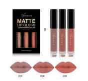 RICHOOSE 3 Colours Set Lip Gloss Matte Lip Glosses Lasting & Do not Stick the Cup Liquid Lipstick