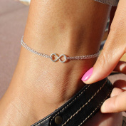 Jovono Simple Infinity Anklet Ankle Bracelet Luck Foot Chain for Women and Girls