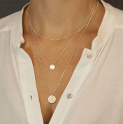 Aukmla Choker Necklaces for Women Hot Multi-layered Street Fashion Simple Bar Necklace Chic Chokers