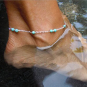 Jovono Simple Bead Anklet Ankle Bracelet Foot Chain for Women and Girls