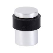 Hafele Metal/rubber Flat Top Round Door Stop/stopper- Satin - 35mm