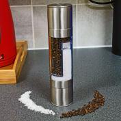 2 In 1 Stainless Steel Premium Salt & Pepper Mill Grinder Shaker Spices Mill New