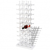 Large Wine Rack Stand Holder Silver Ornament Storage Organiser 40 Bottles