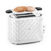 Klarstein Granada Bianca Toaster 2 Slots 1000w Heating Rack Defrost - White
