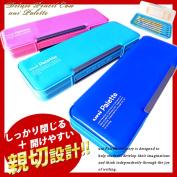 Stationery pencil pen case study uni Palette plain double doors painted (pencil case)