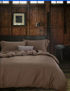 ZLQZZPP Chinese Forging Bedspreads Cotton Retro Khaki Solid Colour Five-star Hotel Hotel Bed Quilt,Khaki-1.8m
