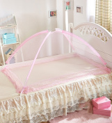 WUFENG Summer Free Installation Children's Mosquito Nets Thickened Lace Mosquito Nets Bed Canopy Curtain Bed Canopy Curtain