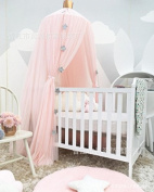 Treasure-house Bed Canopy, Pupow Cotton Round Dome Mosquito Net Kids Reading Nook Play Tents Hanging Curtain For Baby Children Bedroom Decoratioin